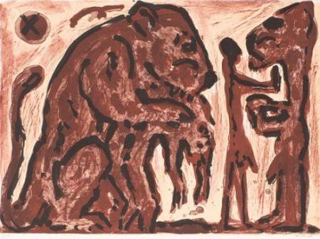 Lithographie Penck - Erinnerung unbekannt