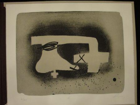 Lithographie Tàpies - Erinnerungen. 5 Originallithografien. Portfolio/Mappenwerk.