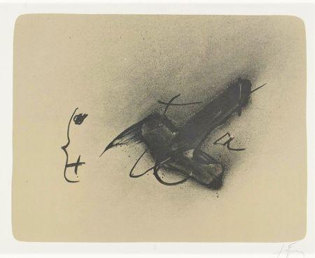 Lithographie Tàpies - Erinnerungen I