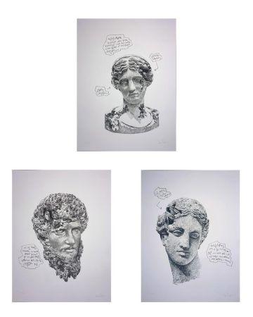 Sérigraphie Arsham - Eroded Classical Prints (Portfolio of 3)