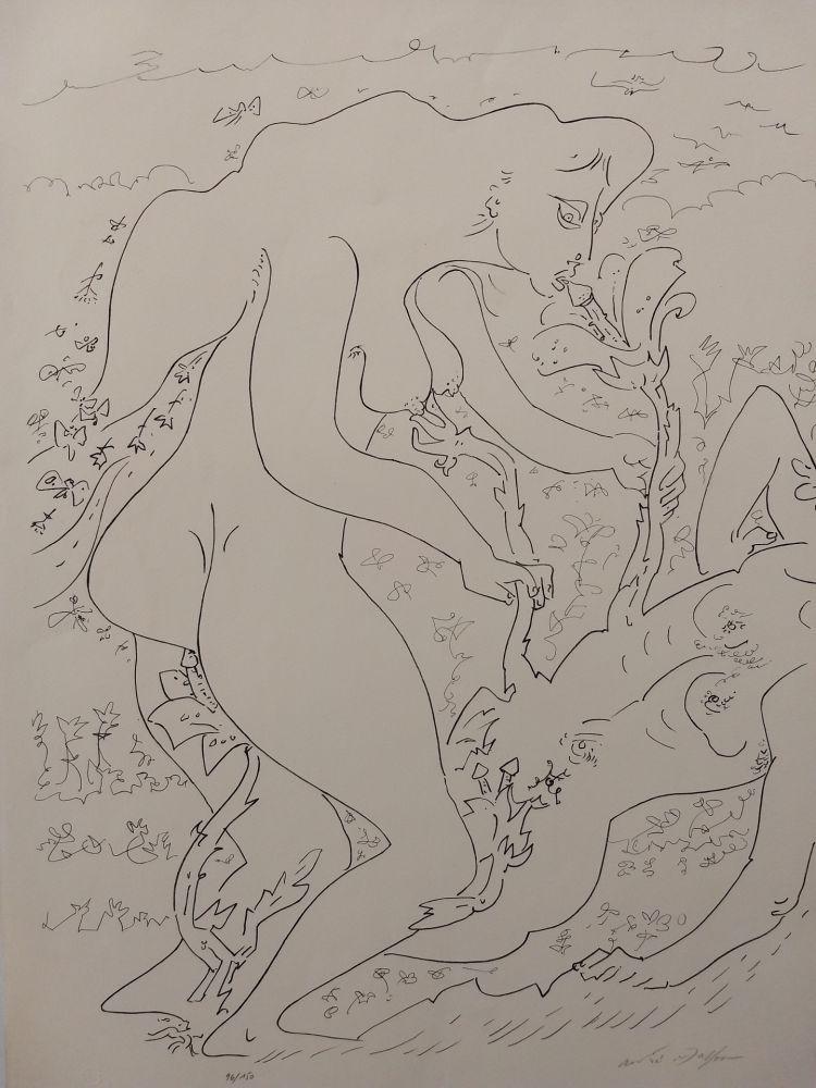 Lithographie Masson - Erotic land