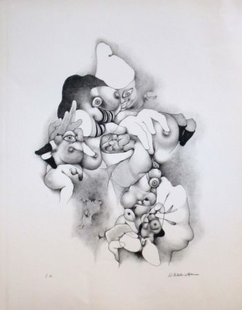 Lithographie Daboval - Erotica