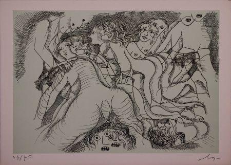 Eau-Forte Baj - Erotica III