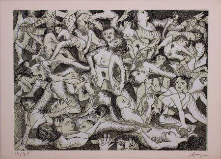 Eau-Forte Baj - Erotica VIII