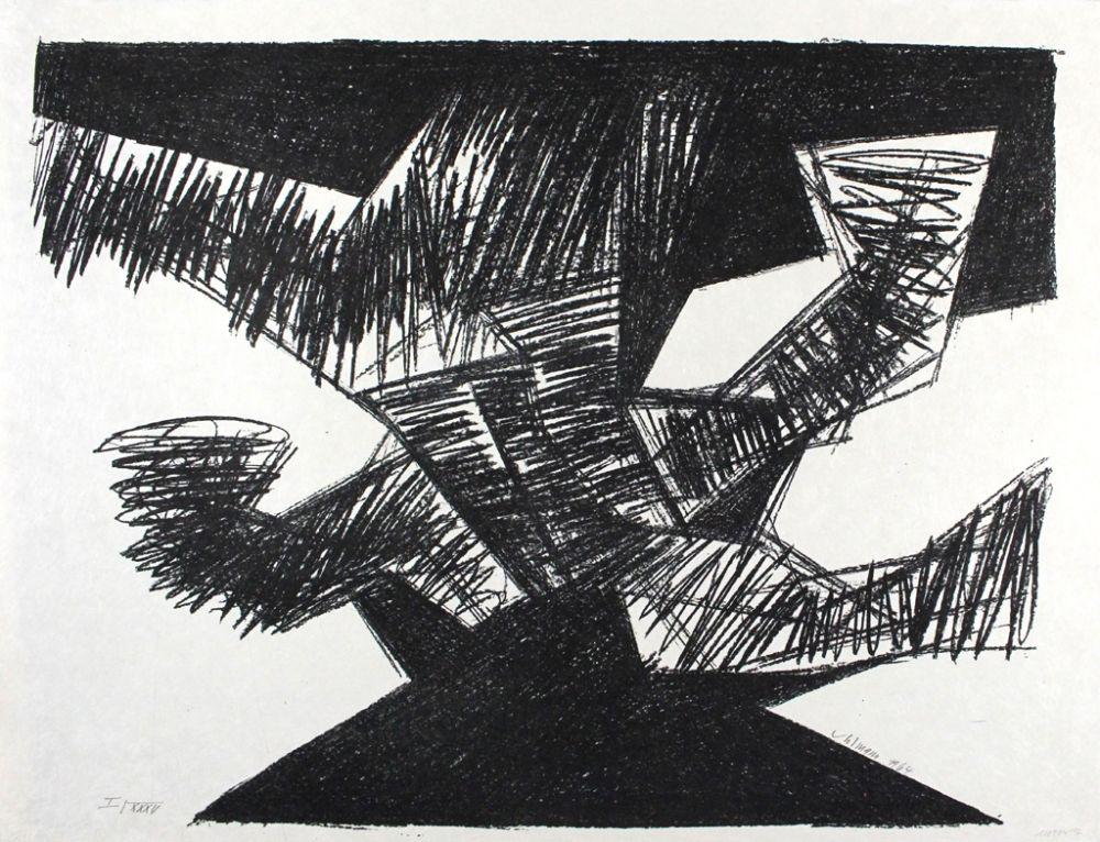 Lithographie Uhlmann - Erregt