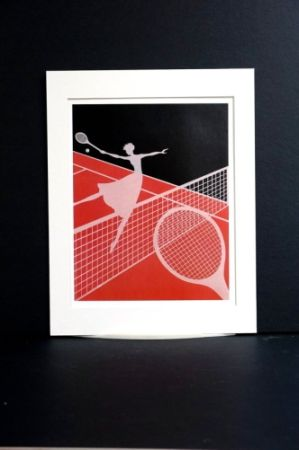 Sérigraphie Erte - Erte - A Limited edition screen print after the Love and Tennis suite