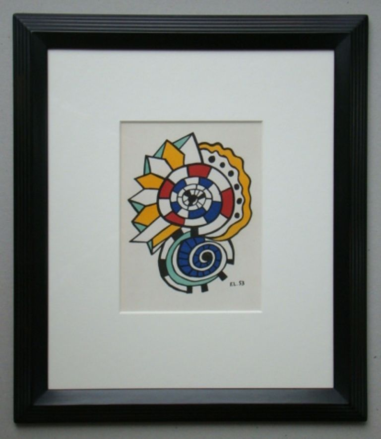 Lithographie Leger - Escargot, 1953