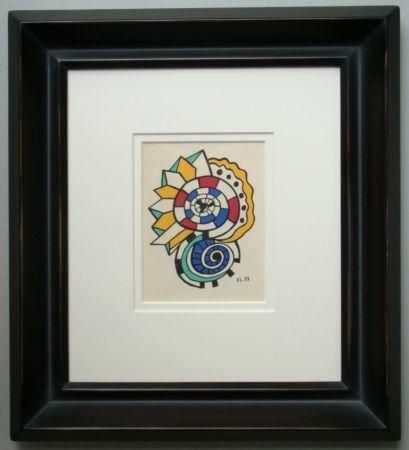 Lithographie Leger - Escargots