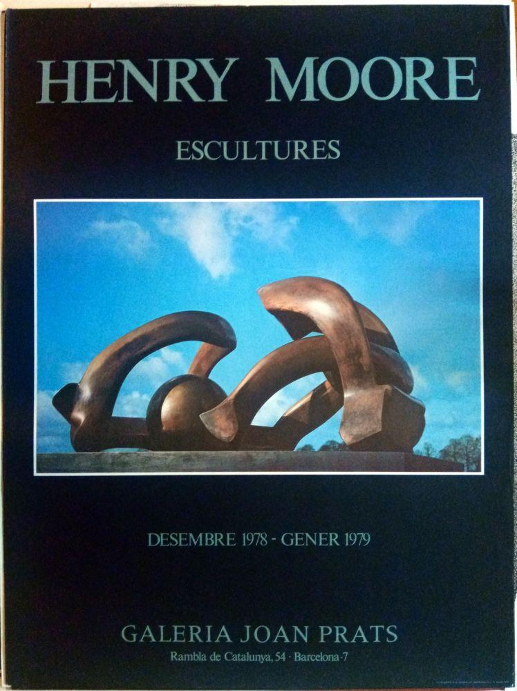 Affiche Moore - Escultures