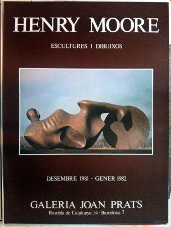 Affiche Moore - Escultures i Dibuixos