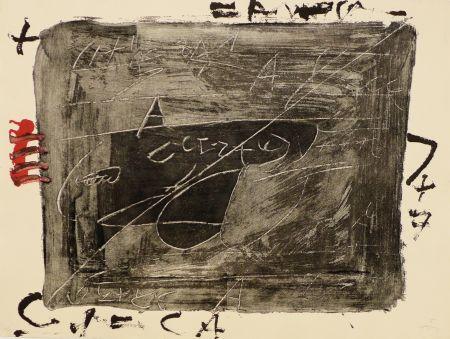 Gravure Tàpies - Esgrafiats sobre negre