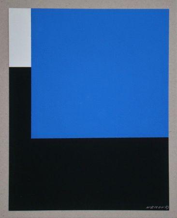 Sérigraphie Nemours - Espace bleue