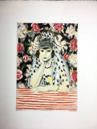Eau-Forte Et Aquatinte Matisse - ESPAGNOLE À LA MANTILLE (1925)