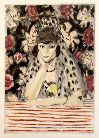 Aquatinte Matisse - Espagnole a la Mantille