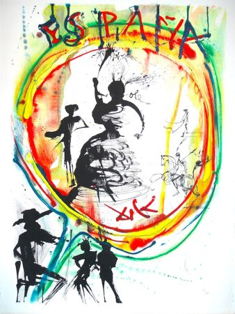 Lithographie Dali - Espana