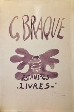Lithographie Braque - Estampes et livres. 1958.