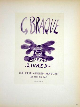 Lithographie Braque - Estampes  Livres