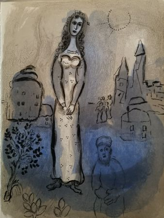Lithographie Chagall - Esther