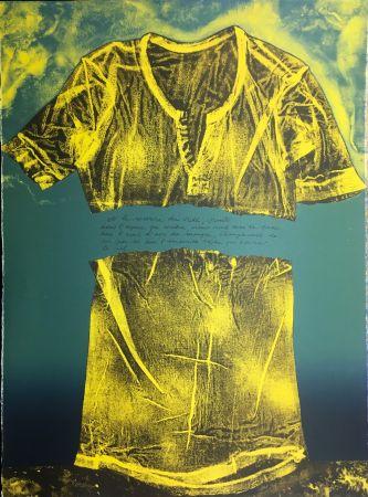 Lithographie Recalcati - Et le sourire du vide…(Placard Bailly). Version en vert. Lithographie de 1975