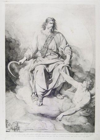Gravure Sabatelli - 'ET VIDI, ET ECCE NUBEM CANDIDAM....' (St. John's Apocalypse, Chapter XIV)
