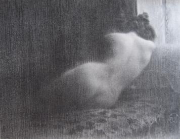 Lithographie Neumont - Etude / Boudeuse
