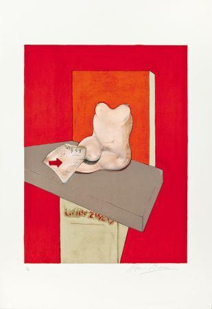 Lithographie Bacon - Etude de corps humain d'après Ingres