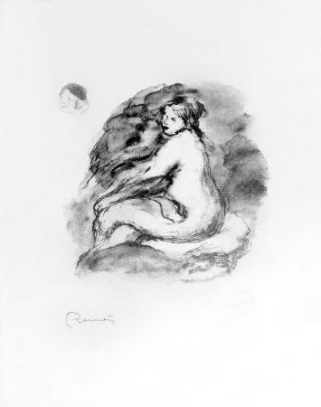 Lithographie Renoir - Etude de femme nue, assise, variante (Study of Seated Female Nude), c. 1904