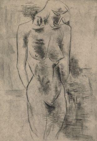 Gravure Braque - Etude de nu