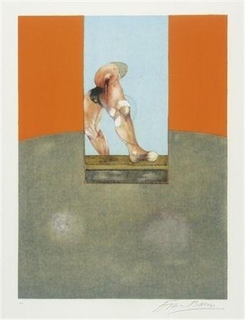 Lithographie Bacon - Etude de tauromachie