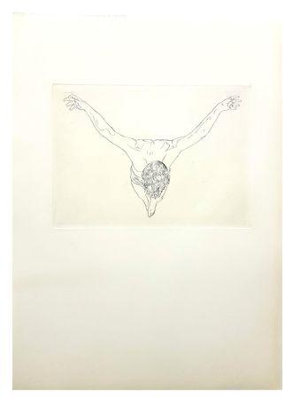 Lithographie Dali - Etude du Christ