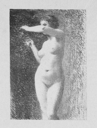 Lithographie Fantin-Latour - Etude pour Eve