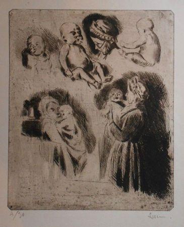 Pointe-Sèche Luce - Etudes de la tante Octavie et d'un bébé (grande planche)