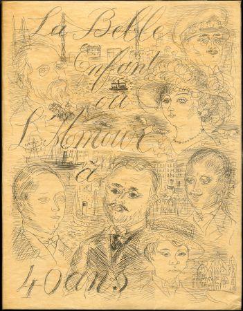 Livre Illustré Dufy - Eugène Montfort: LA BELLE ENFANT OU L'AMOUR A QUARANTE ANS. 94 eaux-fortes originales de Raoul Dufy (1930). Exemplaire sur Japon nacré.