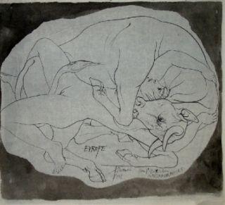 Lithographie Trémois - Europe et les Metamorphoses