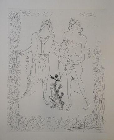 Gravure Braque - Eurybia et Eros.