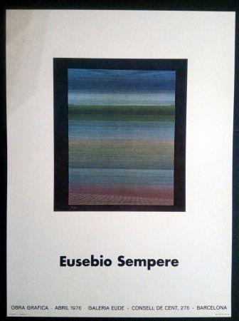 Affiche Sempere - EUSEBIO SEMPERE GALERIA EUDE 1976