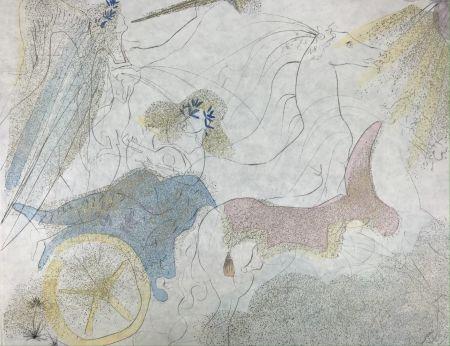 Eau-Forte Et Aquatinte Dali - Euterpe ( from ''Le Muses'' portfolio )