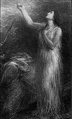 Lithographie Fantin-Latour - Evocation d'Erda (3º planche)