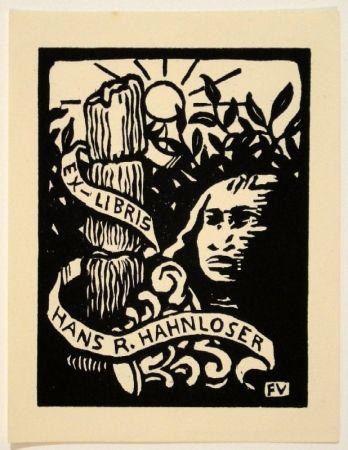 Gravure Sur Bois Vallotton - Ex-Libris Hans R. Hahnloser