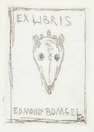 Eau-Forte Giacometti - Ex libris du bibliophile Edmond Bomsel.