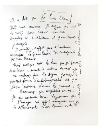 Lithographie Cocteau - Explications