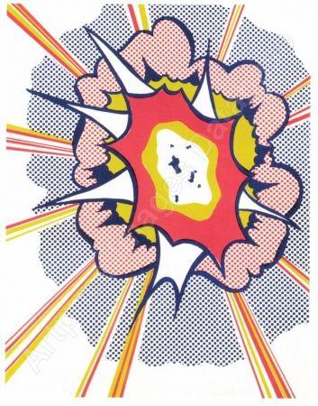 Lithographie Lichtenstein - Explosion