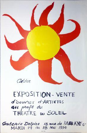 Affiche Calder - Expo-vente au profit du Théâtre du Soleil à la Galerie Delpire en 1974.