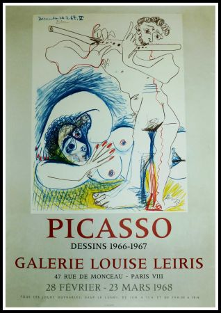 Affiche Picasso - EXPO 1968 GALERIE LOUISE LEIRIS