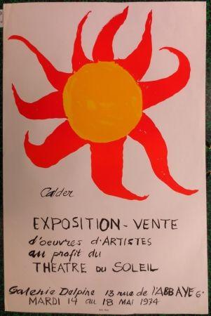 Lithographie Calder - Expo 74 - Galerie Delpire  au profit du théâtre du soleil