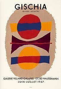 Affiche Gischia - Exposition 1957