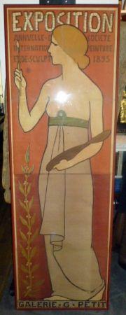 Affiche Réalier-Dumas - Exposition annuelle de peinture et de scupture