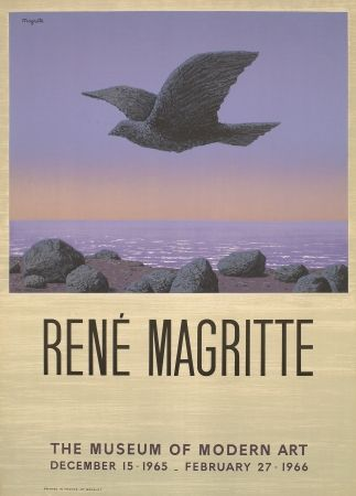 Lithographie Magritte - Exposition au MOMA