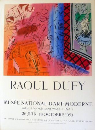 Lithographie Dufy - Exposition au musée national d'art moderne,Paris 1953