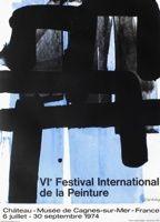 Lithographie Soulages - Exposition Cagnes sur Mer 1974